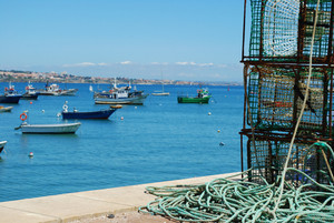 Old Fishing Equipment In The Port Of Cascais