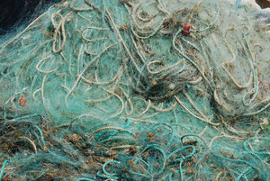 Old Fishing Nets In The Port Of Cascais
