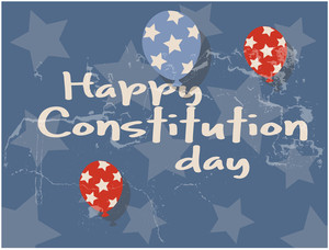 Old Grunge Background  Constitution Day Vector Illustration