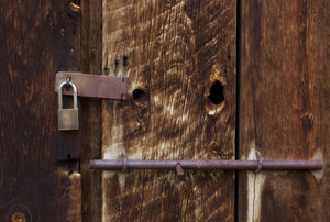 Old Grunge Wood With Lock