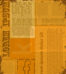 Old Newspaper Texture Vector Illustration