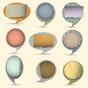 Old Paper Bubbles For Speech