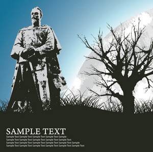 Old Statue Vector Illustration
