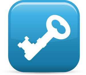 Old Style Key Elements Glossy Icon