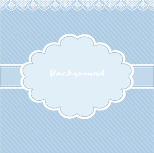 Old Style Scarpbook Cover With Large Tag - Vector Background