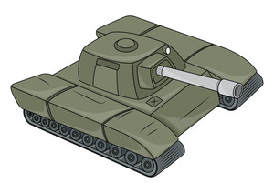 Old Tank Vector