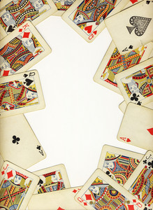 Old Vintage Cards On A White Background Isolated