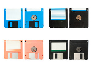 Old vintage floppy disc A 4 style
