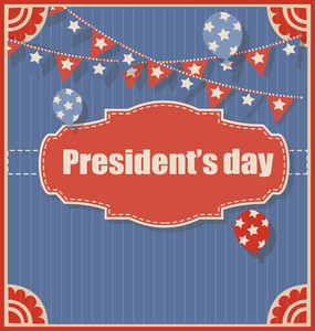 Old Vintage Presidents Day Background