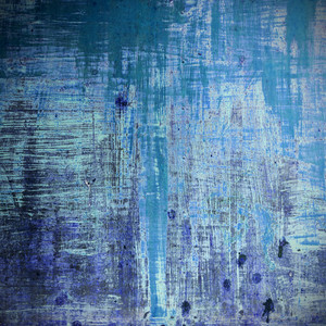 Old wood background in blue color