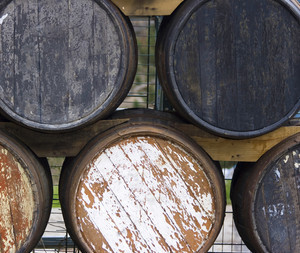 Old Wooden Cask For Aging Wines