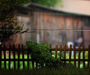 Old Wooden Fence Village Background