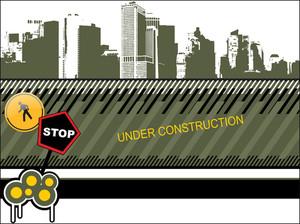 Olive-green Under-construction Building Backgroud