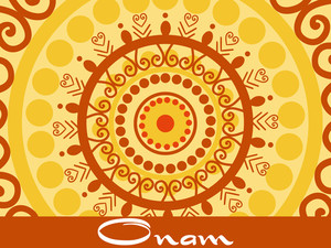 Onam Background With Artwork