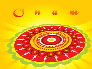 Onam Background With Creative Artwork