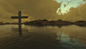 One  Cross In Water
