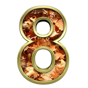 One Digit From Autumn Gold Alphabet Set