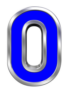One Digit From Blue With Chrome Frame Alphabet Set