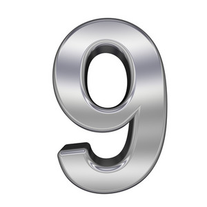One Digit From Chrome Alphabet Set