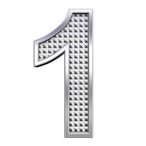 One Digit From Knurled Chrome Alphabet Set