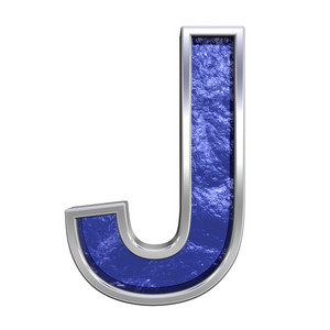 One Letter From Blue Glass Cast Alphabet Set