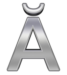 One Letter From Chrome Alphabet Set