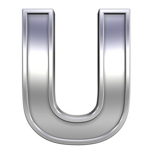 One Letter From Chrome With Frame Alphabet Set