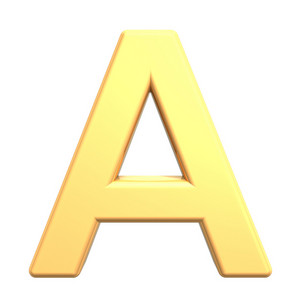One Letter From Gold Alphabet Set