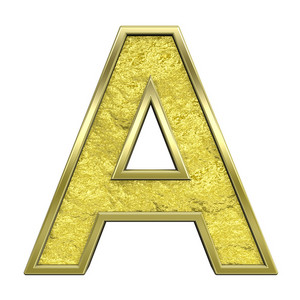 One Letter From Gold Cast Alphabet Set