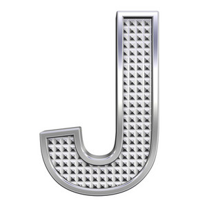 One Letter From Knurled Chrome Alphabet Set