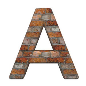 One Letter From Old Brick Alphabet Set