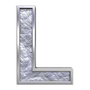 One Letter From Silver Cast Alphabet Set