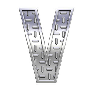 One Letter From Steel Tread Plate Alphabet Set