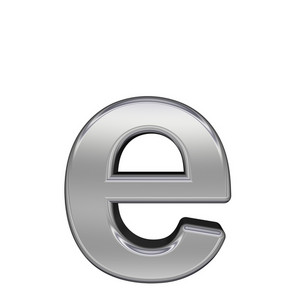 One Lower Case Letter From Chrome Alphabet Set