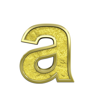 One Lower Case Letter From Gold Cast Alphabet Set