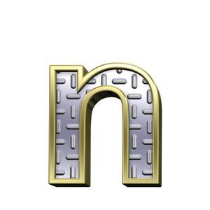 One Lower Case Letter From Steel Tread Plate Alphabet Set