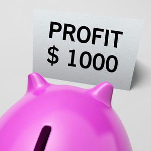 One Thousand Dollars, Usd Profit Shows Wealthy Earnings