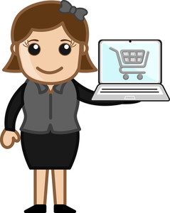 Online Shopping - Cartoon Vector