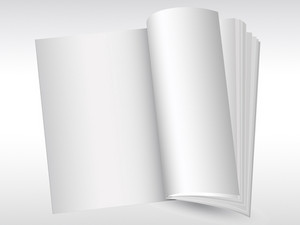 Open Blank Book Graphic Background