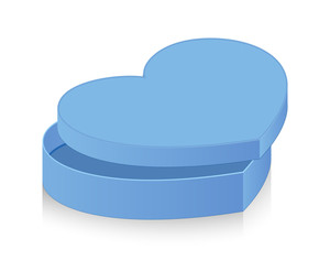 Open Blue Vintage Heart Box