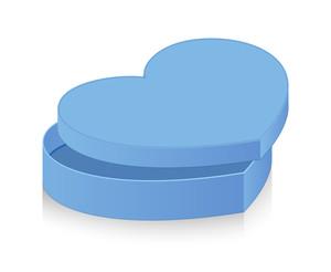 Open Blue Vintage Heart Box