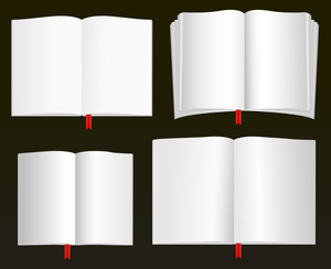 Open Books Vectors
