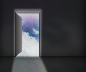 Open Door Sky Background