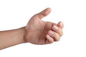 Open Hand Showing All Five Fingers