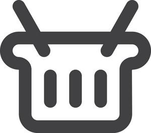 Open Trash Bin Stroke Icon