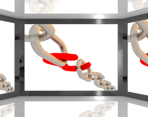 Opened Chain On Screen Shows Risky Situations