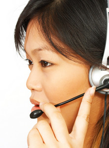 Operator On The Phone Using A Headset