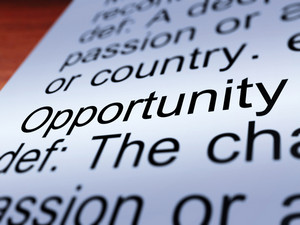 Opportunity Definition Closeup Showing Chance