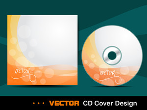 Orange Abstract Cd Cover.