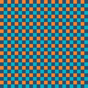Orange And Blue Checkerboard Pattern